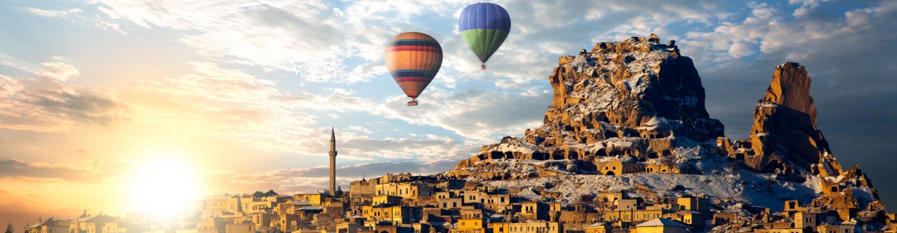 Maak een ballonvaart over Cappadocië