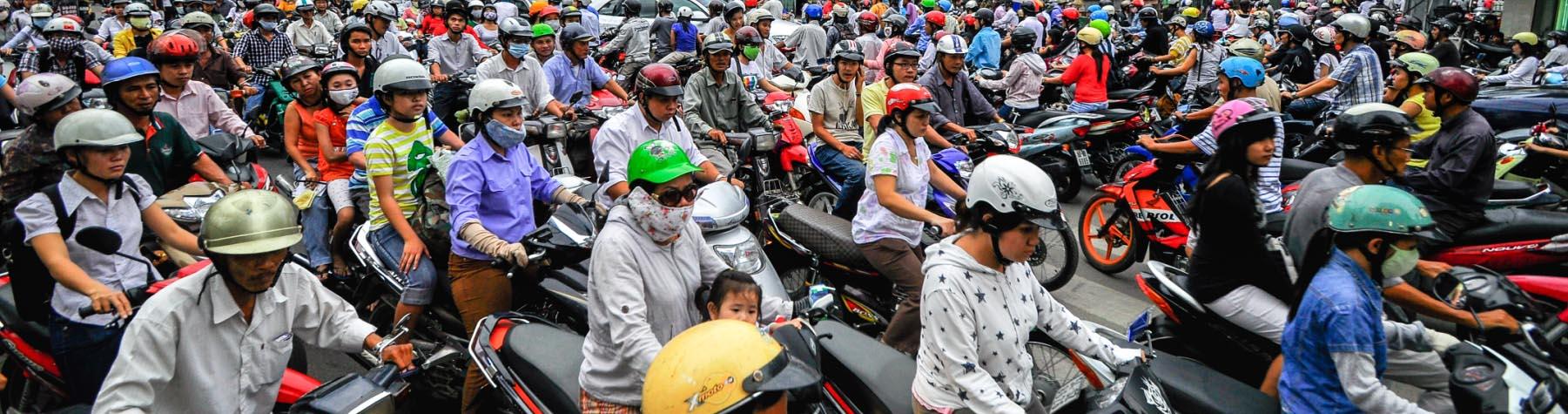 Vietnam en haar scooters
